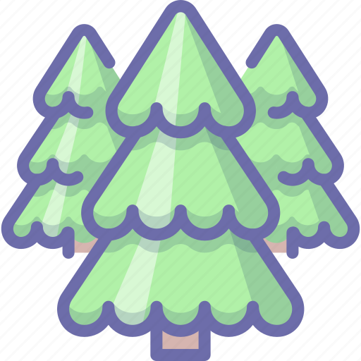 conifer, forest, tree icon
