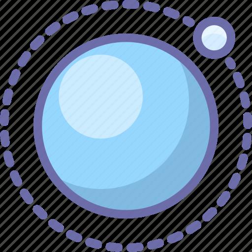 moon, orbit, satellite icon