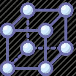 lattice, molecule, science icon