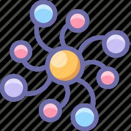 network, neuron, web icon