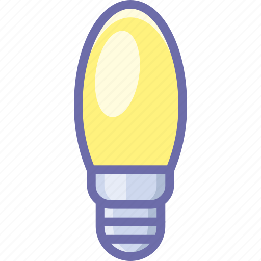 bulb, candle, lamp icon