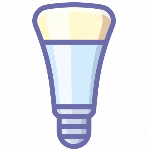 bulb, led, wireless icon