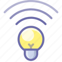 bulb, lamp, wireless icon