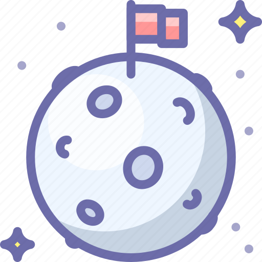 Flag, moon, space icon - Download on Iconfinder