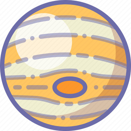jupiter, planet, space icon