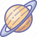 planet, saturn, space icon