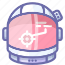 astronaut, helmet, suit icon