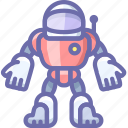 astronaut, robot, suit icon