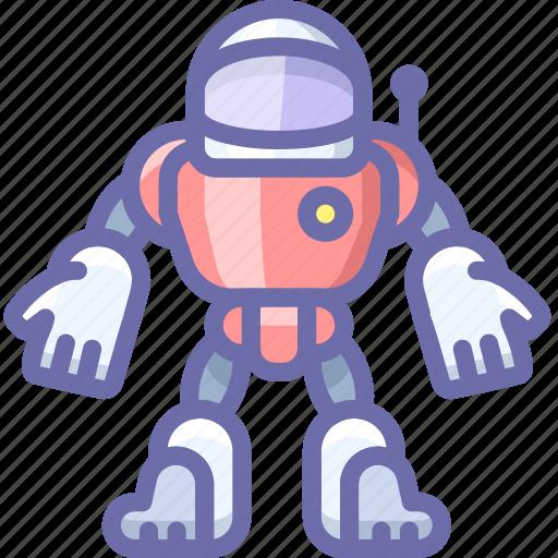 astronaut, robot, suit icon