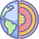 core, earth, planet icon