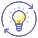 bulb, idea, process icon