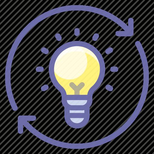 bulb, idea, process icon