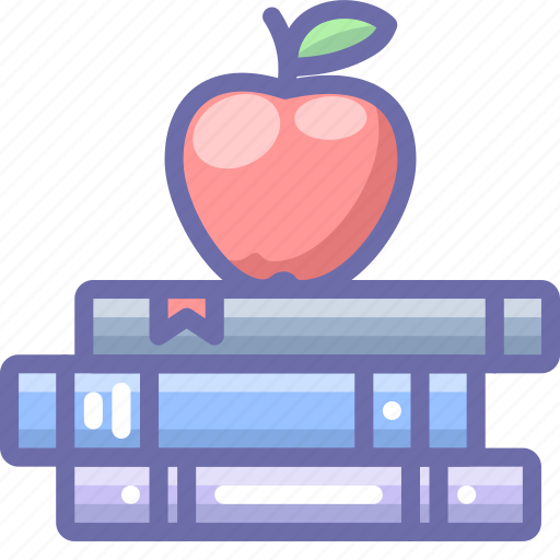 Apple, books, education icon - Download on Iconfinder