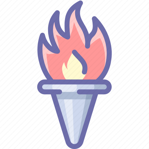 fire, olympic, torch icon