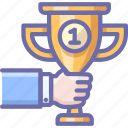 achievement, award, first, place, prize, sport, win icon