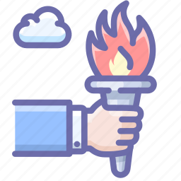fire, olympics, torch icon