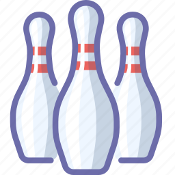 bowling, game, skittle icon