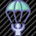 landing, parachute, sport