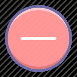 circle, delete, hide icon