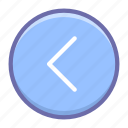 arrow, circle, left icon