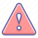 alert, triangle, warning icon