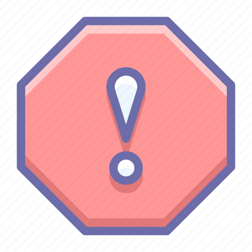 error, octagon, warning icon