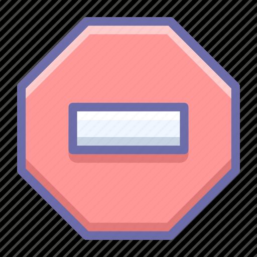ban, denied, stop icon