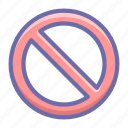 ban, cancel, sign icon