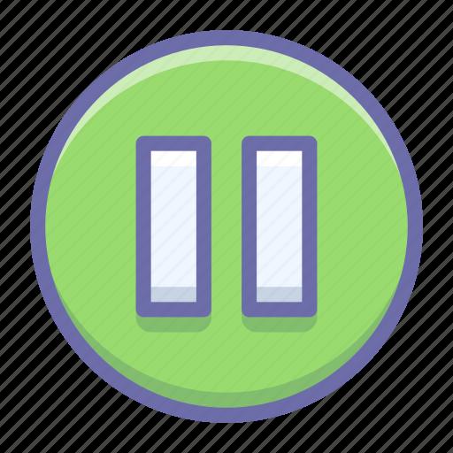 circle, pause icon