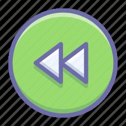 backward, circle, rewind icon