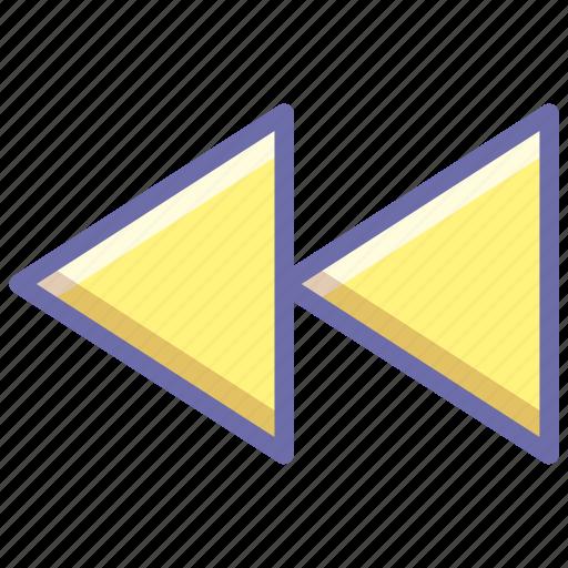 backward, rewind icon