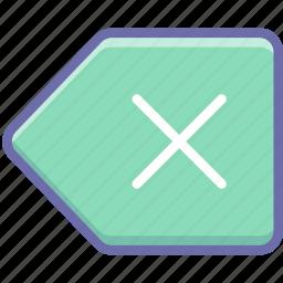 backspace, clear, delete icon