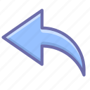arrow, undo icon
