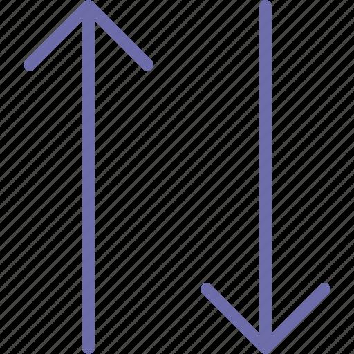 arrow, change, upside icon