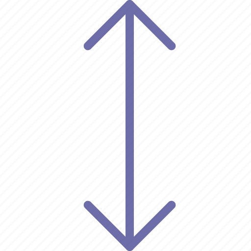 arrow, down, scale icon