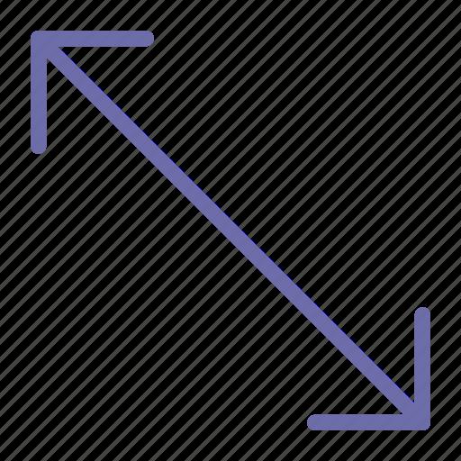 arrow, corner, scale icon