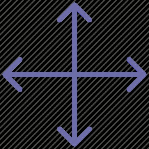 arrow, move, transform icon