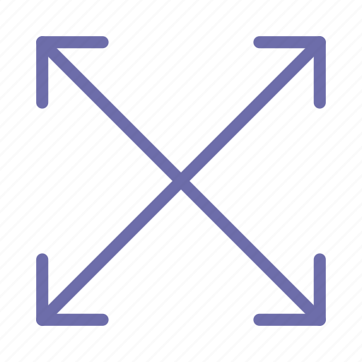 arrow, scale, zoom icon