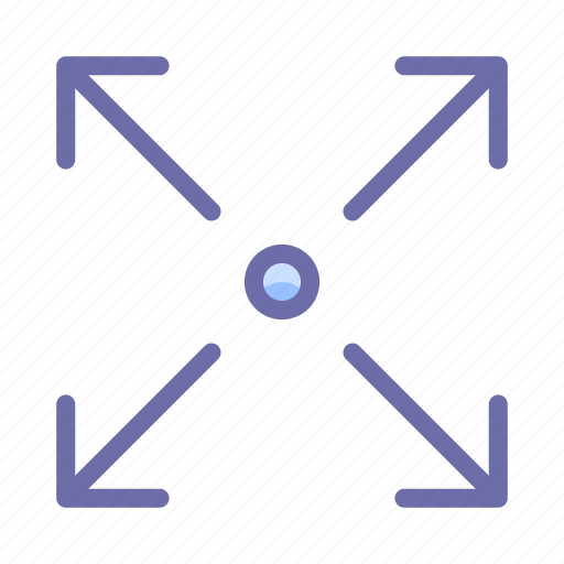 arrow, expand, fullscreen icon