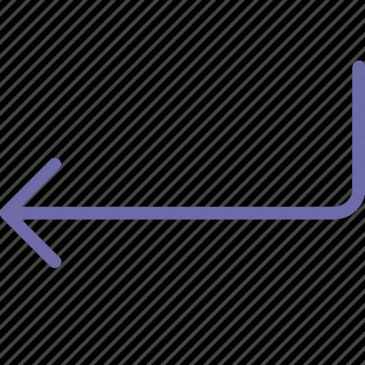 arrow, back, enter icon