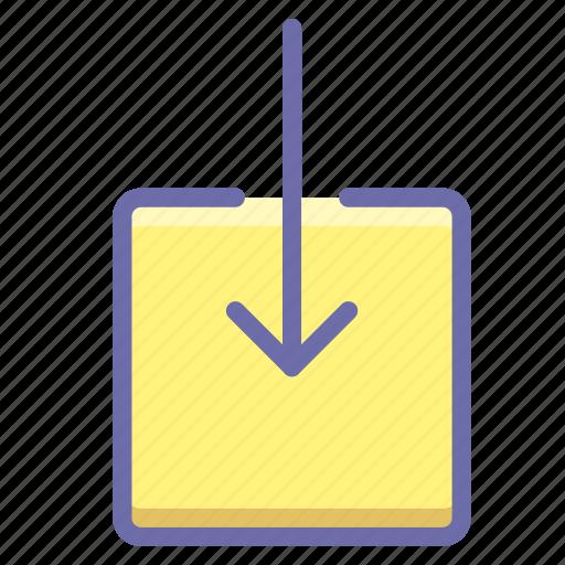 arrow, enter, import icon