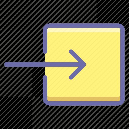 arrow, enter, input icon