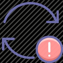 alert, arrow, update icon