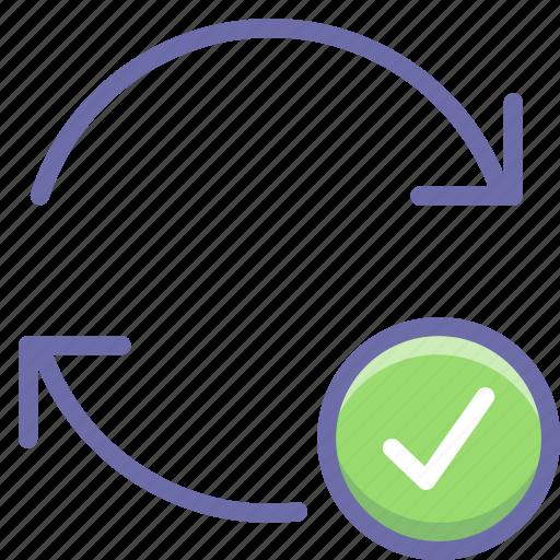 arrow, complete, update icon