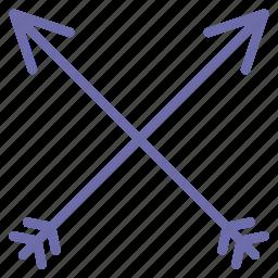 arrows, bow, retro icon