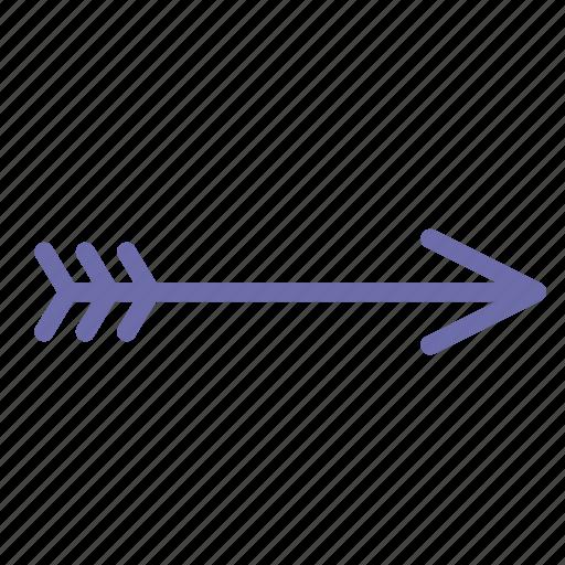 arrow, bow, retro icon