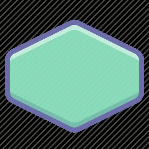 cell, hexagon icon