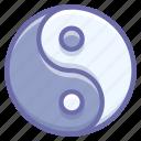 alfa, evil, good, omega, philosophy, yang, yin icon
