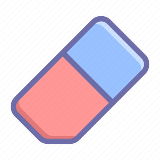 clear, eraser, rubber icon