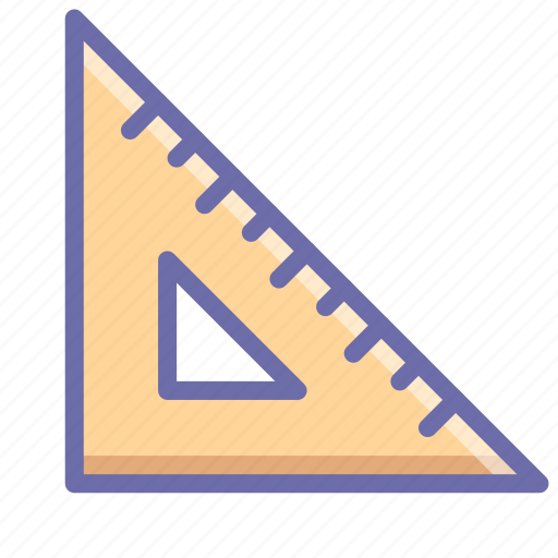 ruler, tool, triangle icon